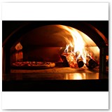 Forno Toscano Mangiafuoco Wood-Fired Pizza Oven on Cart - Black/Red