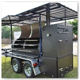 12 x 37 with stainless steel racks and roof with weather panels